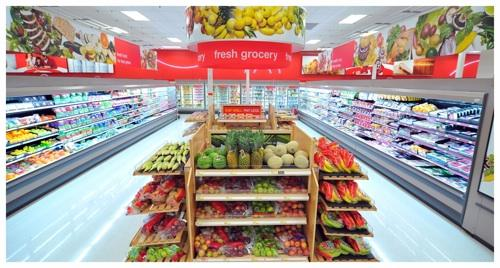 Target added fresh food at three of its Cincinnati-area stores. Here is an example of the expanded fresh food section.