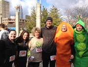 USI Insurance participants of the Food on the Run 10K/5K Run/Walk in Cincinnati.