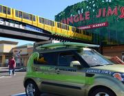 The Wave of Wellness car in front of Jungle Jim's Eastgate.