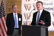 Sam Popiansky, director of business development for Westpack, and Pendery answer questions about the company's investment in Covington.