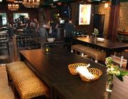 After   New tables, stools and benches in The Public House after the renovation.