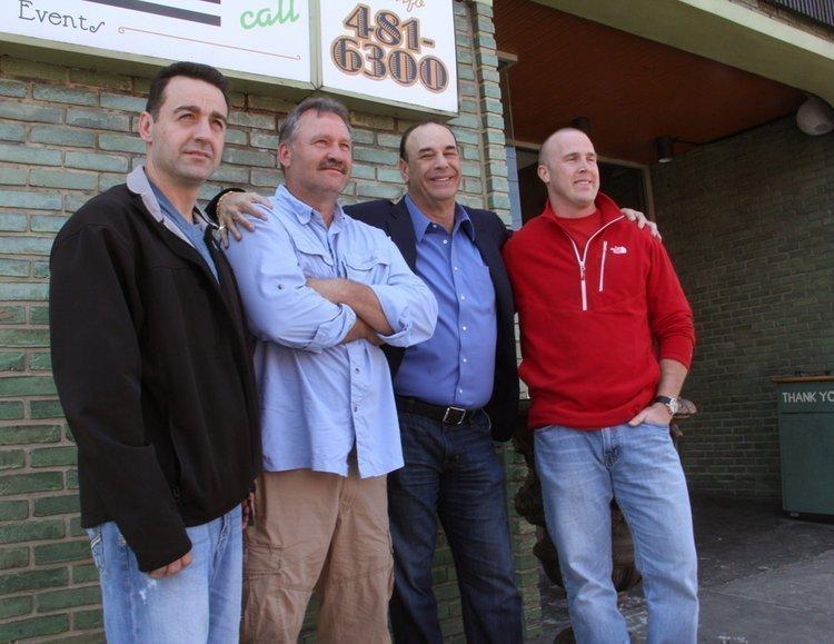 "The Black Sheep owners Scott Scherpenberg, Tommy Gessendorf, ""Bar Rescue"" host Jon Taffer and owner Greg Kling."