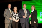 Representatives from Eagle Manufacturing accepting the 2012 Growth Award from the Cincinnati USA Partnership.