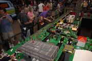 A giant Lego set, including two trains, kept children busy at the Cincinnati Comic Expo.