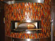 A wood-burning stove inside the 8,000-square-foot Crave restaurant at The Banks.