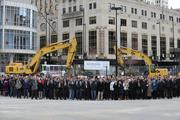 All of the DunnhumbyUSA employees who attended gathered for a huge group photo.