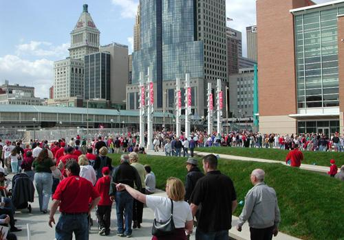 The Cincinnati Reds drew 2.3 million fans to the stands this year.