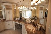 A look at the master bathroom in the Chelsea, built by Hal Homes.