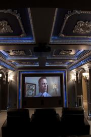 The Artisan's home theater boasts James Bond movie posters.