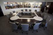 Another example of the meeting rooms spread throughout Itelligence's headquarters building.