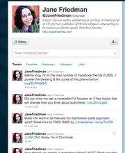 No 2. Jane Friedman @JaneFriedman 136,441 followers University of Cincinnati professor