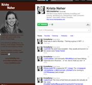 No. 6  Krista Neher  @kristaneher 11,878 followers Social media marketer