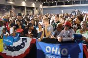 A crowd of about 6,800 turned out at the Duke Energy Convention Center to hear Michelle Obama speak Tuesday afternoon.