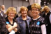 Supporters at the Michelle Obama event.