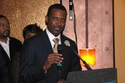 Sean Rugless, CEO of the Greater Cincinnati and Northern Kentucky African American Chamber of Commerce, spoke at the grand opening.
