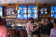 The bar at Mahogany's at the Banks.