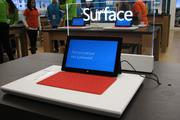 A display for Surface, the new tablet from Microsoft.