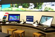 The Microsoft store shows off its latest products.
