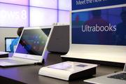 The store has displays of different Microsoft offerings, including its Ultrabooks.