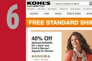 At No. 6, www.kohls.com. Up from No. 7 last year.