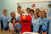 Elmo makes an appearance at the Sea of Smiles Pediatric Dentistry practice.