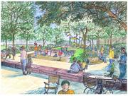 The playground will be located on the Ohio Riverfront just east of the Roebling Suspension Bridge.