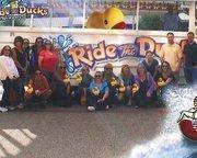 Telestar employees enjoying an outing on the Ride the Ducks tour.