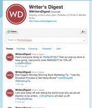No. 1  Writer's Digest @writersdigest 234,756 followers Writer's Digest publisher