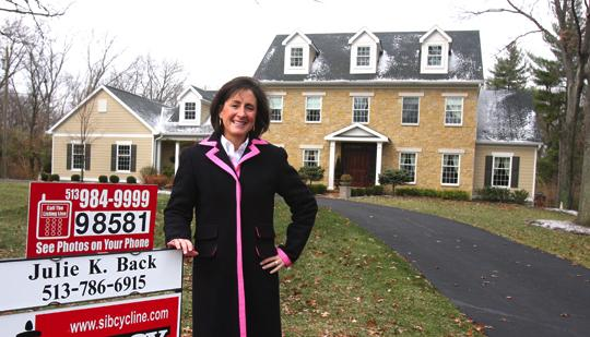"""""""Move-up buyers are looking for permanent homes,"""" said  Sibcy Cline's Julie Back, with an Indian Hill listing."""