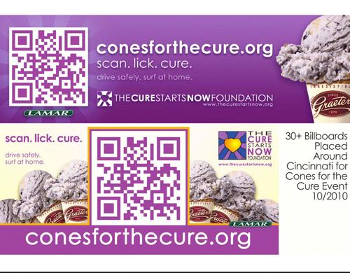 The Cure Starts Now used a QR bar code for a promotion that raised more than $25,000.