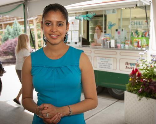 Alia Ali is the owner and operator of Chill Shaved Ice Bar, which uses all-natural syrups on its shaved ice confections. Chill is selling its products at Krohn Conservatory and Findlay Market.