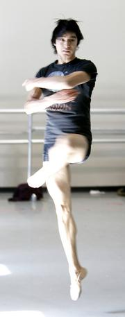 Dancer Ruslan Mukhambetkaliyev joined Cincinnati Ballet in 2011.