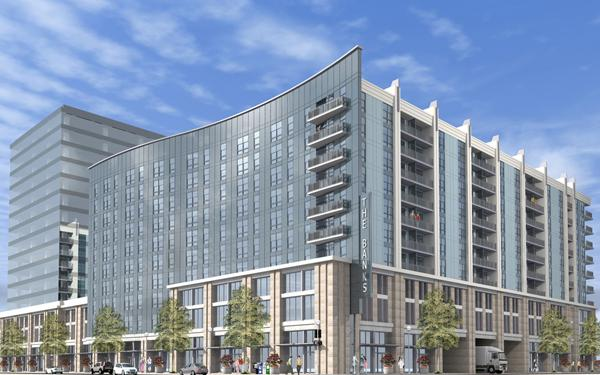 New renderings show a curved façade.