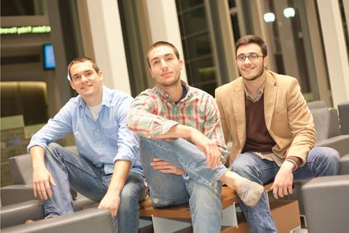 Xavier University students, from left: Brendan Cmolik, Sean Zavoda and Wyatt Link founded Bloom, which will offer a mobile food service targeted to organic and vegan enthusiasts.