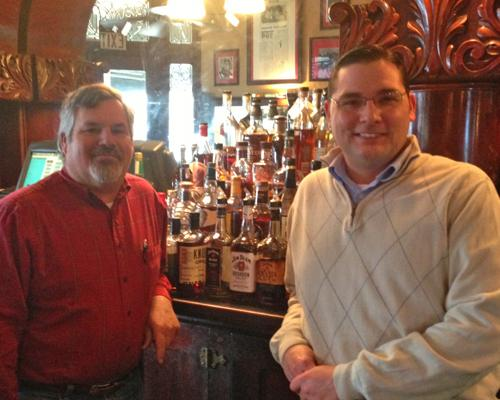 Pompilios co-owner Mike Mazzei, left, followed his father's wishes and gave longtime employee Joe Bristo, right, at stake in the company. Bristo, who has worked at the restaurant since he was a teen, now handles much of the day-to-day business while Mazzei deals mostly with marketing and business development.