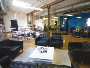 DotLoop's high ceilings and open floors met CEO Austin Allison's demand for cool but functional space.