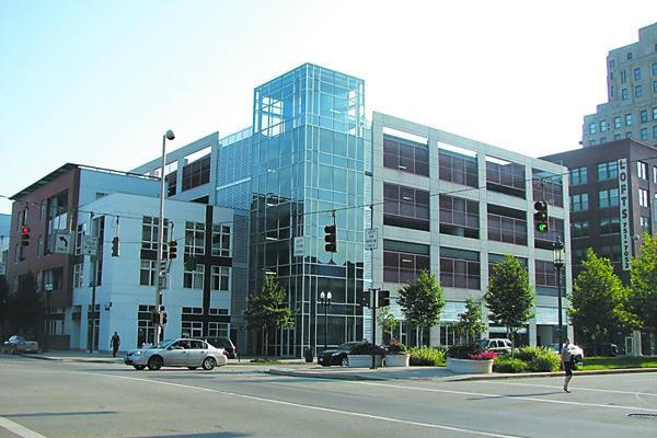 The Gateway Garage is located at Vine Street and Central Parkway.