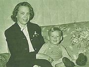 Thelma Grein and Roger as a toddler.