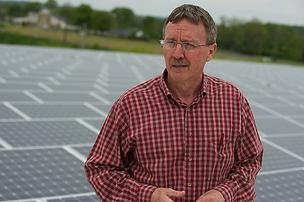 TIm Lansing, vice president of operations for Harrison-based Hubert Co., said his company decided to build its giant solar roof after getting a green light from its German parent.