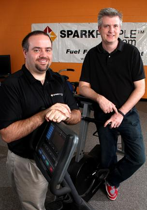SparkPeople's Chief Technology Officer Josh Knepfle, left, and COO Dave Heilmann retain simplicity while developing new products.