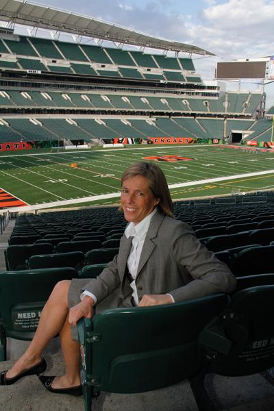 """I love what I do, and I love Cincinnati. I just feel like I am in a great spot in being able to play a role in the city where I live,"" said Katie Blackburn, Bengals executive vice president."