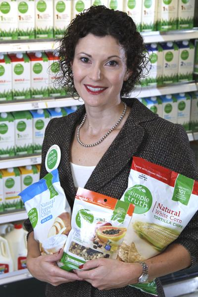 Mary Ellen Adcock, vice president with Kroger. Analysts said the grocer has the right track record to be successful selling its organic products.