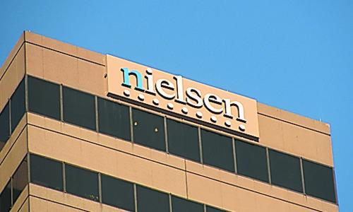 Nielsen's sign on the former Chiquita Center has triggered a lawsuit.