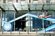 At its downtown Cincinnati headquarters, Procter & Gamble is now showing off its new logo and athlete sponsors for its giant advertising and marketing campaign based on this year's Summer Olympics in London.