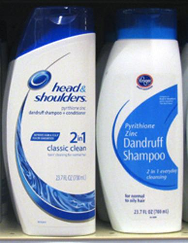 P&G's hair care product is the bottle at left.