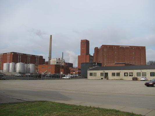 The former Seagram Distillery's annual production capacity is about 28 million proof gallons.