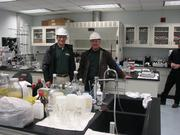 The plant is overseen by manager Jim Vinoski, left, and master distiller Greg Metze.