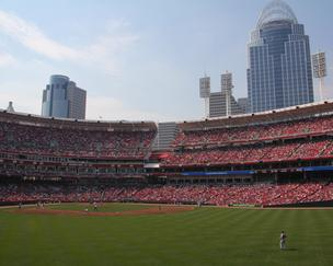Great American Ball Park is home to the Cincinnati Reds