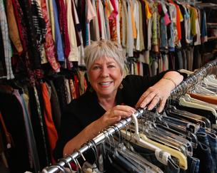 Moe Rouse, who owns Mannequin Boutique in Over-the-Rhine, donates all her store's profits to charity.