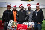 Bengals collect gifts for needy kids